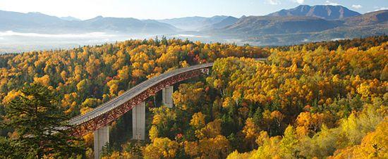 北海道三国峠の紅葉